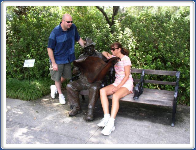 John and Lisa at Brookgreen